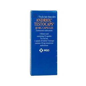 Thuốc Andriol Testocaps 40mg