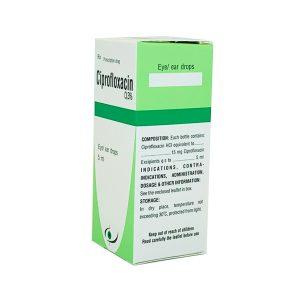 Thuốc Ciprofloxacin 0.3% 5ml