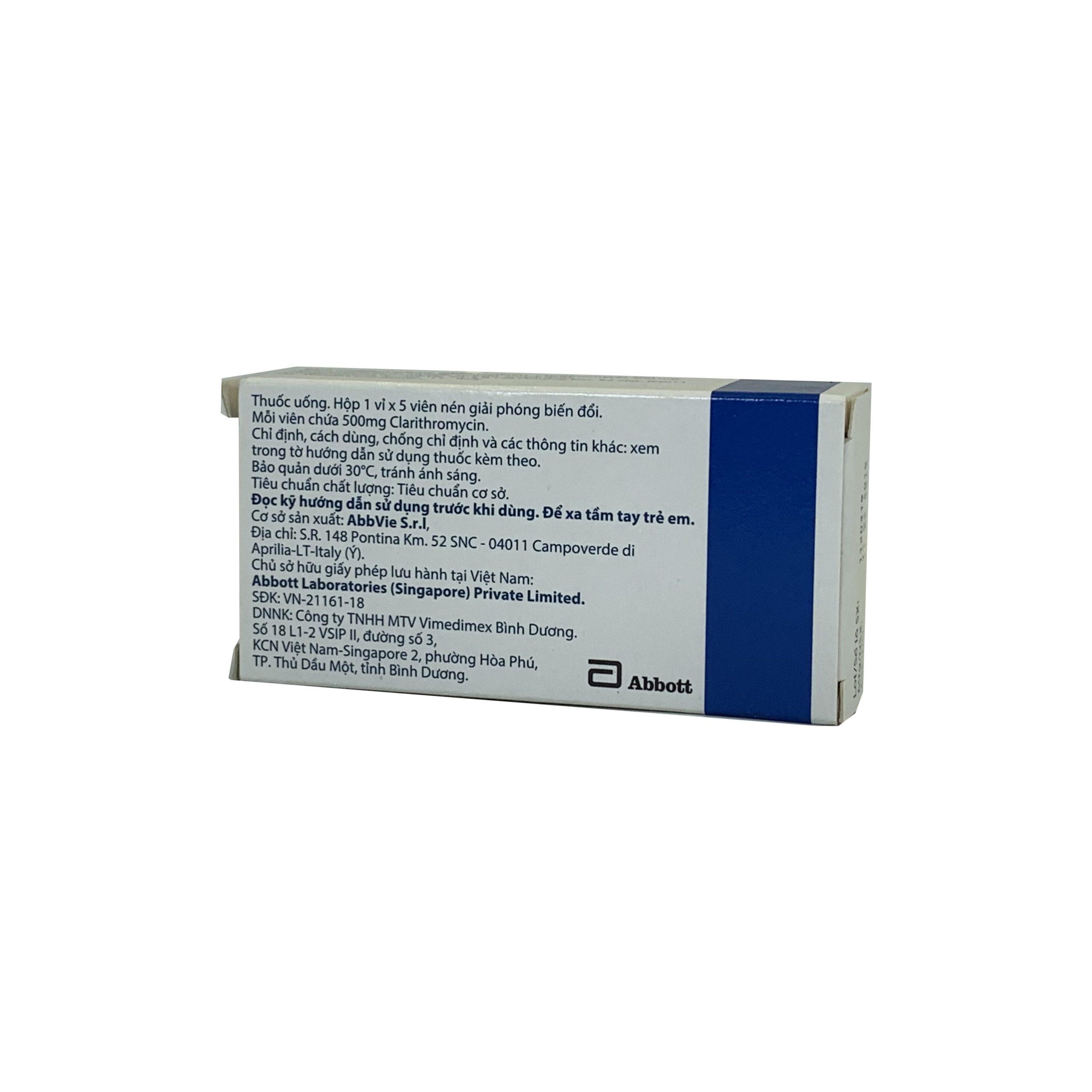Thuốc Klacid MR 500mg