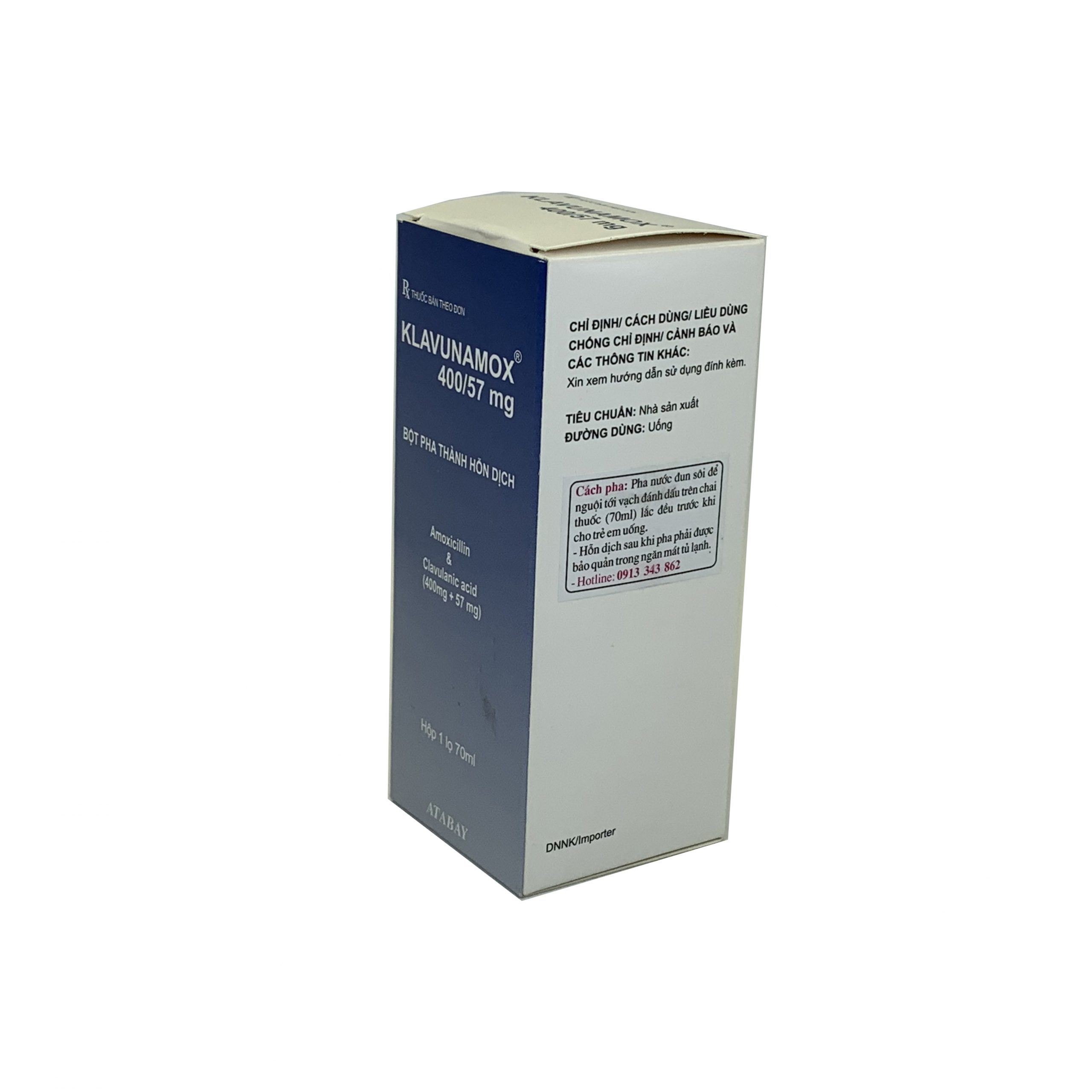 Thuốc Klavunamox 400/57mg