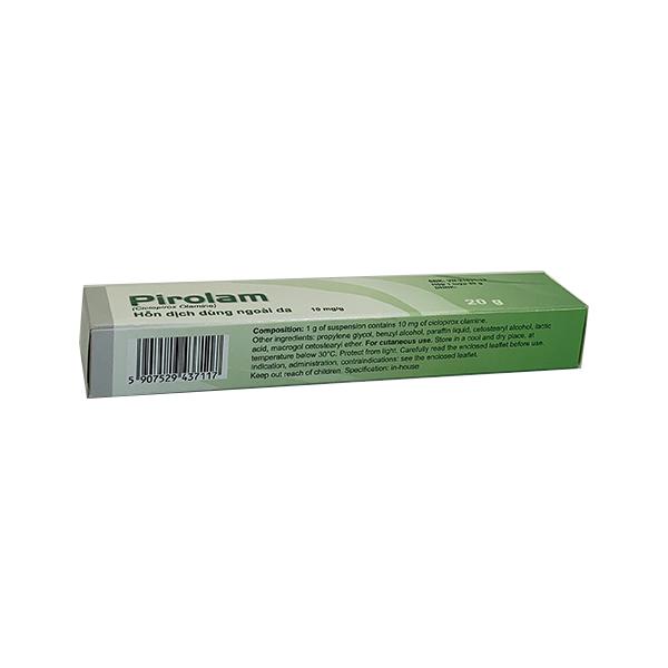 Thuốc pirolam 10mg/g