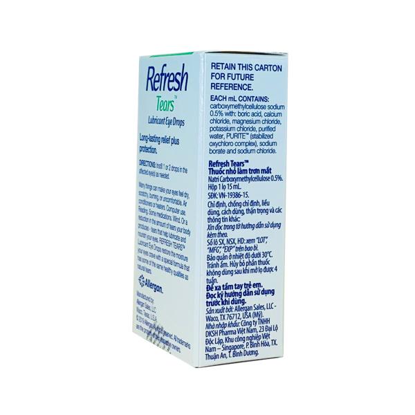 Thuốc Refresh Tears 0.5% 15ml